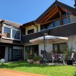Gartenansicht Rückseite - Ferienwohnungen in Haiger