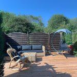 Gartenansicht Terasse - Ferienwohnungen in Haiger